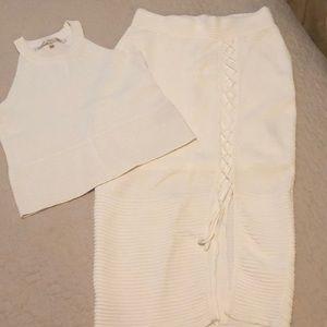 Rachel Roy skirt and crop top set